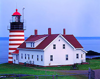 Quoddy Head Lighthouse, Quoddy Head State Park, Maine   Atlantic Ocean