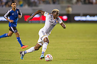 CARSON, CA - August 8, 2014: LA Galaxy forward Gyasi Zardes (11) during the LA Galaxy vs San Jose Earthquakes match at the StubHub Center in Carson, California. Final score, LA Galaxy 2, San Jose Earthquakes 2.