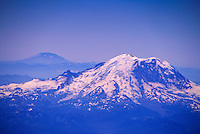 Mt. Rainier and Mt. St. Helens (Aerial), Cascade Mountains, Washington, US