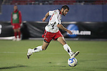 12 December 2008: Graham Zusi (11) of Maryland shoots on goal.  The University of Maryland Terrapins defeated the St. John's University Red Storm 1-0 during the second sudden death overtime at Pizza Hut Park in Frisco, TX in an NCAA Division I Men's College Cup semifinal game.