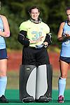 09 October 2015: North Carolina's Shannon Johnson. The University of North Carolina Tar Heels hosted the Longwood University Lancers at Francis E. Henry Stadium in Chapel Hill, North Carolina in a 2015 NCAA Division I Field Hockey match. UNC won the game 8-1.