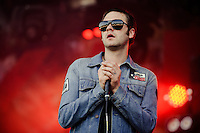 Tom Meighan/Kasabian performing at the Rock-A-Field Festival Luxembourg, Europe on June 27, 2010