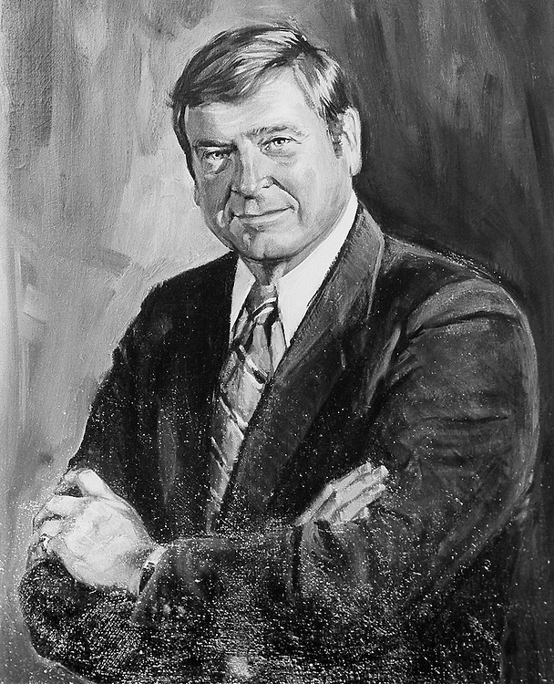 Painting of Dan Rostenkowski. April 3, 1991 (Photo by Laura Patterson/CQ Roll Call)