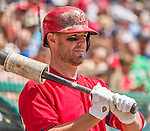 21 March 2015: Washington infielder Kevin Frandsen awaits the start of play prior to a Spring Training Split Squad game against the Atlanta Braves at Champion Stadium at the ESPN Wide World of Sports Complex in Kissimmee, Florida. The Braves defeated the Nationals 5-2 in Grapefruit League play. Mandatory Credit: Ed Wolfstein Photo *** RAW (NEF) Image File Available ***