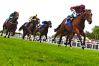 Winner of The Lascar Ruby Anniversary Handicap,Scorching Heat ridden by Joshua Bryan and trained by Andrew Balding  during Afternoon Racing at Salisbury Racecourse on 18th May 2017