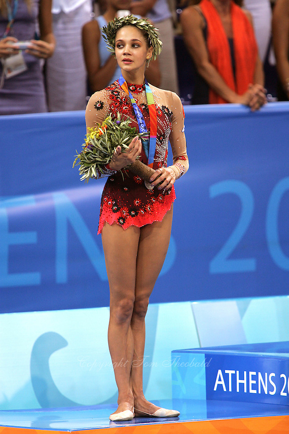 ... star IRINA TCHACHINA of Russia won silver in All-Around competition at