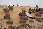 Mushroom rocks at Yehliu Geopark, Taipei County, Taiwan, ROC