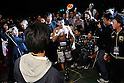 Takashi Uchiyama (JPN),..DECEMBER 31, 2011 - Boxing :..Takashi Uchiyama of Japan leaves the ring after winning the WBA super featherweight title bout at Yokohama Cultural Gymnasium in Kanagawa, Japan. (Photo by Hiroaki Yamaguchi/AFLO)