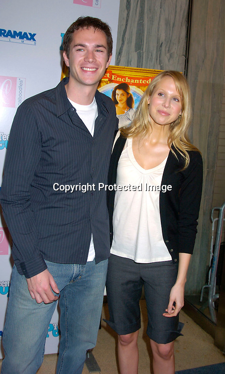 James Darcy and Lisa Punch ..at The Premiere of &quot;Ella Enchanted&quot;  on March 28, 2004 ..at the Clearview Beekman Theatre in New York City. ..Photo by Robin Platzer, Twin Images
