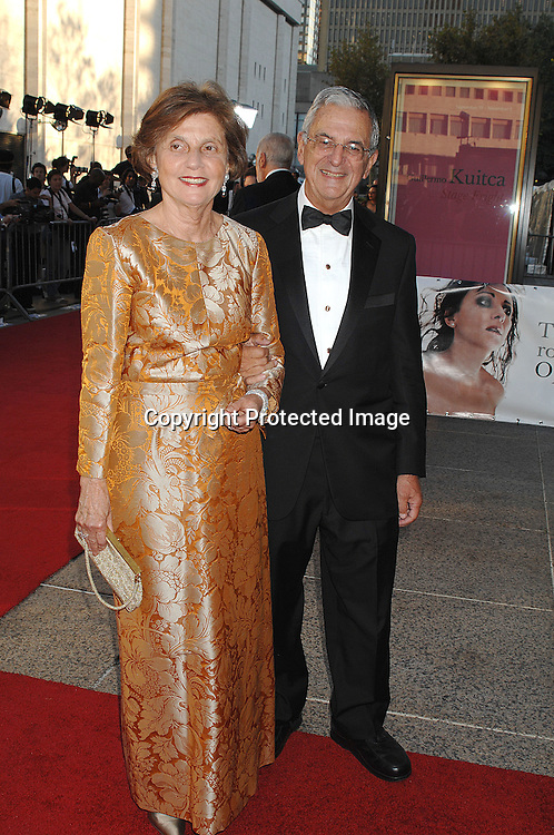 Howard Rubenstein and wife ..arriving at The Metropolitan Opera 2007-08 Opening Night on September 24, 2007 at The Metropolitan Opera House..in Lincoln Center in New York City. ....photo by Robin Platzer, Twin Images ....212-935-0770