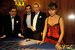 SPARKS Charity Ball  fund raising  at the London Hilton Hotel England 1980s. People playing roulette.