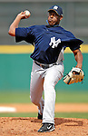 16 March 2007: New York Yankees pitcher Luis Vizcaino on the mound against the Houston Astros at Osceola County Stadium in Kissimmee, Florida...Mandatory Photo Credit: Ed Wolfstein Photo