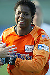 4 July 2003: Briana Scurry. The Carolina Courage defeated the Atlanta Beat 3-2 at SAS Stadium in Cary, NC in a regular season WUSA game.