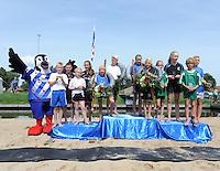 FIERLJEPPEN: IJLST: Fries Kampioenschap, winnaars v.l.n.r Lisse van der Knaap, Rutger Haanstra, Germ Terpstra en Tirza Boschma, ©foto Martin de Jong