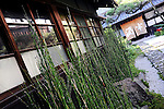 Photo shows the courtyard of Sakahan sake brewery in Mukune village, Osaka, Japan on July 24 2008. The brewery, which was established in 1826, sells its Mukune brand of sake -- a wine-like beverage fermented from rice, water, yeast and a starch-killing mold called koji-kin, in 44 states in the U.S. and in parts of Russia...Photographer: Robert Gilhooly