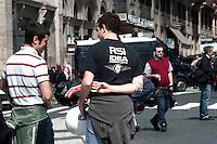 """Roma 7 Maggio 2010.Manifestazione, «Giovinezza al potere», organizzata dai movimenti di estrema destra,, Casapound, e Blocco Studentesco, per presentare la candidatura dei rappresentanti alle prossime elezioni universitarie..Rome May 7, 2010.Demonstration, """"Youth to Power,"""" organized by far-right movements,, Casapound and Block Student to present the candidature of university representatives at the next election."""