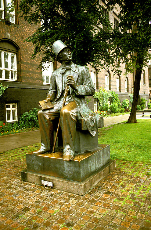 Denmark: Copenhagen, Hans Christian Anderson statue, photo: viking105  .Photo copyright Lee Foster, www.fostertravel.com, 510/549-2202, lee@fostertravel.com