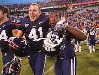 Virginia wins big 47-7 over Indiana October 10, 2009 at Scott Stadium in Charlottesville, Va. Photo/Andrew Shurtleff