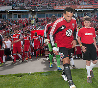 05 May 2012: D.C. United midfielder Dwayne De Rosario #7 takes to the pitch during the opening ceremonies in an MLS game between DC United and Toronto FC at BMO Field in Toronto..D.C. United won 2-0.