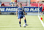 19 June 2004: Mia Hamm. The Washington Freedom tied the Boston Breakers 3-3 at the National Sports Center in Blaine, MN in Womens United Soccer Association soccer game featuring guest players from other teams.