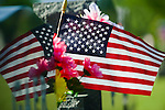 Families and friends decorated many of the graves at the Indianola cemetery.