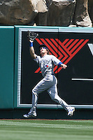 05/06/12 Anaheim, CA: Toronto Blue Jays center fielder Colby Rasmus #28 during an MLB game against the Toronto Blue Jays played at Angel stadium. The Angels defeated the Blue Jays 4-3