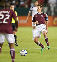 CARSON, CA – September 9, 2011: Colorado Rapid midfielder Wells Thompson (15) during the match between LA Galaxy and Colorado Rapids at the Home Depot Center in Carson, California. Final score LA Galaxy 1, Colorado Rapids 0.