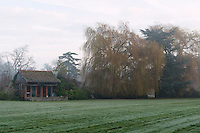 The Fordham Abbey estate. Dojima Sake Brewery, Ely, UK, December 5, 2016.The Fordham Abbey Estate is set to be the site of the UK's first sake brewery. Work is underway on a new brewery and visitor centre, while the Grade II listed Georgian main house will host Japanese food and sake tasting events.