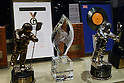 May 12, 2010 - Tokyo, Japan - Trophy awards are on display at the 'Michael Jackson - The official Lifetime Collection' exhibition, in a hall at the foot of Tokyo Tower, Tokyo, Japan, on May 12, 2010. More than 280 items of Michael Jackson memorabilia including crystal-studded gloves and favorite 1967 Rolls Royce are on display until July 4. (c) MICHAEL JACKSON ESTATE.