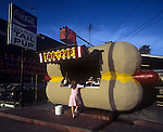 Eddie Blakes Tail O' The Pup Hot Dog stand stood at he corner of La Cienega and Beverly Blvds. in Los Angeles, CA