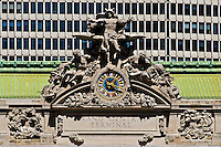 Grand Central Station Mercury Clock, sculpture created by Jules-Felix Coutan, clock has Tifffany Glass, Grand Central, New York City, Park Avenue