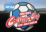 08 December 2005: The 2005 Men's College Cup logo at SAS Stadium in Cary, North Carolina.