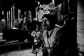Karaganda, Kazakhstan .1998.Coal miners prepare for their showers following their shift..