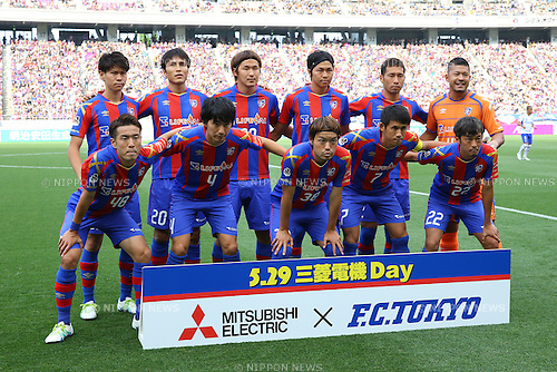 FCFC Tokyo team group line-up,<br /> MAY 29, 2016 - Football / Soccer :<br /> FC Tokyo team group shot (Top row - L to R) Kento Hashimoto, Ryoichi Maeda, Kazunori Yoshimoto, Yuichi Maruyama, Yuhei Tokunaga, Yota Akimoto, (Bottom row - L to R) Kota Mizunuma, Hideto Takahashi, Keigo Higashi, Takuji Yonemoto and Naotake Hanyu before the 2016 J1 League 1st stage match between F.C.Tokyo 1-0 Gamba Osaka at Ajinomoto Stadium in Tokyo, Japan. (Photo by AFLO)