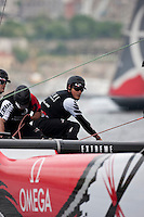 Extreme Sailing Series 2011. Act 3.Turkey . Istanbul.Emirates New Zealand skippered by Dean Barker with teammates Glenn Ashby,James Dagg and Jeremy Lomas.Credit Lloyd Images