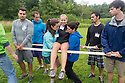 From left, Jonathan Hernandez, Ryan Nichols, Bryce Bludevich, Sarah Kelso, Tracey LaFonte, Murtaxa Bharmal, Christopher Williams. Outdoor team building activities. Wilderness medicine.
