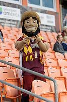 Houston, TX - Friday December 9, 2016: Denver Pioneers Mascot at the NCAA Men's Soccer Semifinals at BBVA Compass Stadium in Houston Texas.