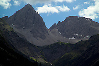 Adlerweg, Tirol, Austria, August 2005. The Hanauer Hutte and Mt Dremelspitze. The Adlerweg (eagles trail) is the new long distance hiking trail in Austria. The Adlerweg connects existing paths throughout Tirol, in the shape of an eagle, Tirol's provincial symbol. Photo by Frits Meyst/Adventure4ever.com