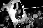 Rioters burn Golkar flags Jakarta Indonesia June elections 1999