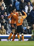 Francesco Sandaza celebrates his first goal with Willo Flood