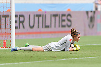 Houston, TX - Saturday April 15, 2017: Lydia Williams stops a shot on goal during a regular season National Women's Soccer League (NWSL) match won by the Houston Dash 2-0 over the Chicago Red Stars at BBVA Compass Stadium.