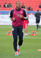 Toronto, Ontario - May 17, 2014: New York Red Bulls forward Thierry Henry #14 warms-up before a game between the New York Red Bulls and Toronto FC at BMO Field. Toronto FC won 2-0.