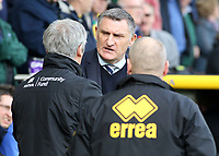 Blackburn Rovers manager Tony Mowbray greets Norwich City Interim Manager Alan Irvine<br /> <br /> Photographer David Shipman/CameraSport<br /> <br /> The EFL Sky Bet Championship - Norwich City v Blackburn Rovers - Saturday 11th March 2017 - Carrow Road - Norwich<br /> <br /> World Copyright &copy; 2017 CameraSport. All rights reserved. 43 Linden Ave. Countesthorpe. Leicester. England. LE8 5PG - Tel: +44 (0) 116 277 4147 - admin@camerasport.com - www.camerasport.com