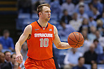 26 January 2015: Syracuse's Trevor Cooney. The University of North Carolina Tar Heels played the Syracuse University Orange in an NCAA Division I Men's basketball game at the Dean E. Smith Center in Chapel Hill, North Carolina. UNC won the game 93-83.