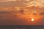 Maamendhoo Island, Laamu Atoll, Maldives; colorful skies at sunrise over the Indian ocean