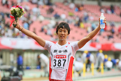Kei Takase, <br /> JUNE 28, 2015 - Athletics : <br /> The 99th Japan Track &amp; Field National Championships <br /> Men's 100m Final <br /> at Denka Big Swan Stadium, Niigata, Japan. <br /> (Photo by YUTAKA/AFLO SPORT)