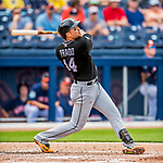 1 March 2017: Miami Marlins infielder Martin Prado in Spring Training action against the Houston Astros at the Ballpark of the Palm Beaches in West Palm Beach, Florida. The Marlins defeated the Astros 9-5 in Grapefruit League play. Mandatory Credit: Ed Wolfstein Photo *** RAW (NEF) Image File Available ***