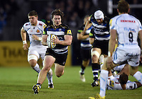 Nick Auterac of Bath Rugby in possession. West Country Challenge Cup match, between Bath Rugby and Exeter Chiefs on October 10, 2015 at the Recreation Ground in Bath, England. Photo by: Patrick Khachfe / Onside Images
