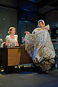 """. London, UK. 17/07/2011.  """"Mongrel Island"""", by Ed Harris, and presented at the Soho Theatre, offers a fresh, cynical and offbeat perspective on how the workplace can strip away our humanity. Robyn Addison as Marie and Joanna Holden as Pippop. Photo credit should read Jane Hobson"""