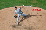 20 September 2015: Miami Marlins pitcher Raudel Lazo on the mound against the Washington Nationals at Nationals Park in Washington, DC. The Marlins fell to the Nationals 13-3 in the final game of their 4-game series. Mandatory Credit: Ed Wolfstein Photo *** RAW (NEF) Image File Available ***